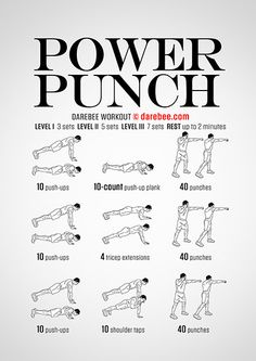 Visual Workouts Boxer Workout, Home Boxing Workout, Kickboxing Workout, Mma Workout, Workout Board, Muay Thai Training, Power Training, Boxing Training, Chest Workouts