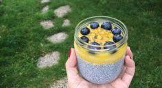Pudding graines de chia et mangue
