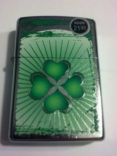 2014 New Design Four Leaf Clover Grunge Street Chrome Zippo Lighter #28659