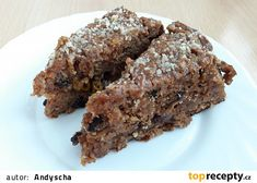 Zdravý mrkvovo-jablečný dort recept - TopRecepty.cz Sweet Recipes, Cake Recipes, Cooking Recipes, Healthy Recipes, Meatloaf, Food And Drink, Low Carb, Sweets, Drinks