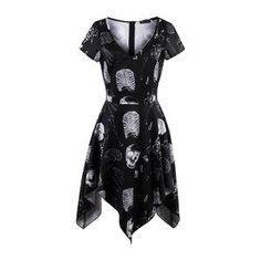 10 SKULL DEAD HEAD TETE DE MORT Taille XS à XL - Femmes shirt//GIRL//WOMAN