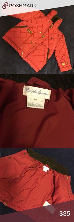 🎉Host pick🎉Baby Ralph Lauren Jacket 6M Worn twice..Red. Size 6 months. Polo by Ralph Lauren Jackets & Coats