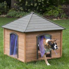 Boomer & George Large Gazebo Dog House with FREE Dog Doors - REDO008