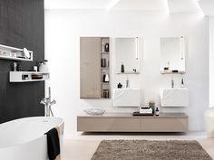 Le bois et l'eau ne font pas bon ménage. Pourtant, en choisissant les essences qui supportent l'humidité, on peut tout à fait installer des éléments en bois dans la salle de bains. Esprit ... #maisonAPart