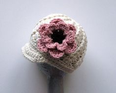 Crochet mother daughter hat set - Two matching hats custom made in any color and  $37.00
