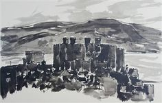 """Conwy Castle"" By Sir Kyffin Williams"