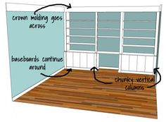 Planning the Office Built-In Wall, and Other Things that Drive Husbands Crazy | * View Along the Way *
