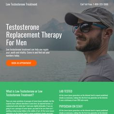 low testosterone mini responsive landing page design