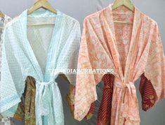SALE Robes! 100% Cotton kimono Robes, Pure cotton Kimono, Night costumes, Oriental Kimono, Women's robes, Discount for Kimonos Cotton Kimono, Cotton Saree, Fashion Sale, Women's Fashion, Tokyo Fashion, Indian Fashion, Reversible Skirt, Women's Robes, Quality Lingerie