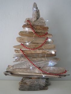 Driftwood tree with LED lights