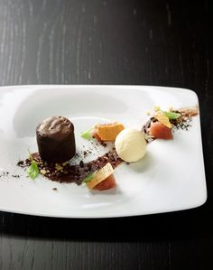 Justin North's chocolate pudding at Quarter Twenty-One in Sydney