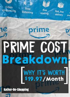 Amazon Prime Cost Breakdown: Why Prime is Worth $19.97 Per Month Best Money Saving Tips, Saving Money, Money Tips, Frugal Living Tips, Frugal Tips, Amazon Mobile, How To Make Money, How To Become, Amazon Hacks