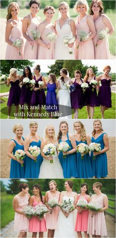 Mix and Match Bridesmaid Dresses for a Personalized Look | Your Something Blue