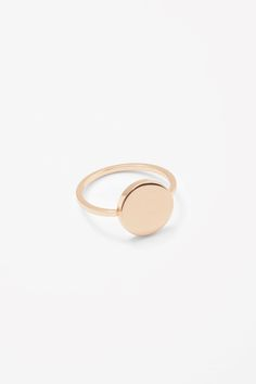 COS image 1 of Ring with circle disc in Gold