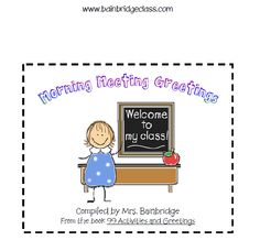 Morning Meeting Greetings (responsive classroom PBIS strategy)