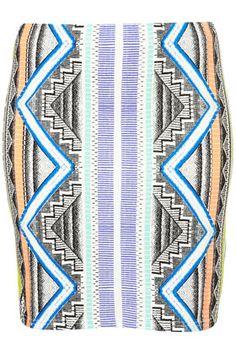 Topshop Aztec skirt