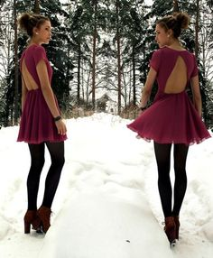 Really cute girly girl dress and morphed for winter outfit. Cute!