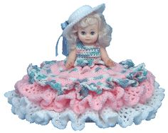 "7027 Crochet Pattern 13"" SHEILA Bed Doll By Td Creations"