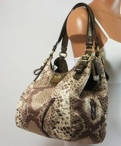 Coach Madison Python Print Maggie Hobo Handbag « Holiday Adds