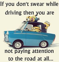 Swearing while driving