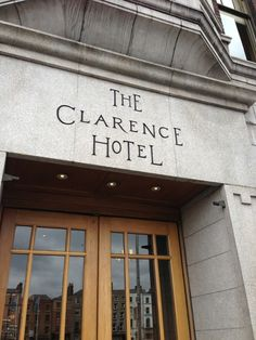 The Clarence Hotel in Dublin East Restaurant, Dublin Hotels, Destinations, Wanderlust, Typography, Home Decor, Letterpress, Decoration Home, Letterpress Printing