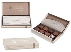 Studio 761 - 8-pc Belgian Chocolate Truffle Candy Gift Box with Custom hot stamp - as low as $11.62