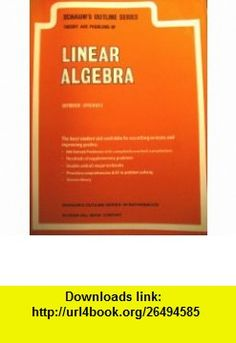 LINEAR ALGEBRA Seymour Lipschutz ,   ,  , ASIN: B0026CTC3G , tutorials , pdf , ebook , torrent , downloads , rapidshare , filesonic , hotfile , megaupload , fileserve