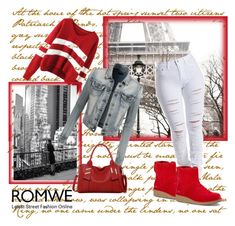 """Romwe contest"" by dinka1-749 ❤ liked on Polyvore featuring UGG Australia, LE3NO, women's clothing, women's fashion, women, female, woman, misses and juniors"