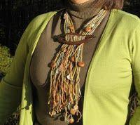 How to Make Yarn Jewelry Tutorials ~ The Beading Gem's Journal