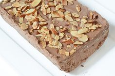 Milk Chocolate Semifreddo with Salted Almonds