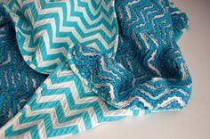 Oh, man... a chevron version of the cut chenille blanket. Love it! Via AestheticNest.com