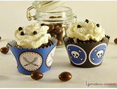 Décoration de cupcake du Kit printable le petit pirate