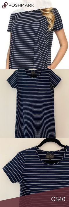 United by Blue Striped Swing Dress with pockets Boxy fit with pockets (the material has a stiffness to it). recycled polyester United by Blue Dresses Swing Dress With Pockets, Plus Fashion, Fashion Tips, Fashion Trends, Blue Dresses, The Unit, Skirts, Stuff To Buy, Outfits