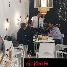 Visita de los responsables de la sección de iluminación de Leroy Merlin España y Portugal.--- #FieraMilano17 #Joalpa #FieraMilano #lamp #light #deco #designinterior #interiordesign #luxury #artesania #art #Euroluce #Euroluce17