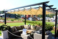 Housing Fair Finland 2014 - Cube 170 Outdoor Shade, Outdoor Living, Outdoor Decor, Pergola Patio, Garden Furniture, Patio Ideas, Backyard Ideas, Garden Ideas, Outdoor Gardens