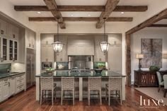 Rustic Residence With Antique Beamed Ceilings | LuxeSource | Luxe Magazine - The Luxury Home Redefined