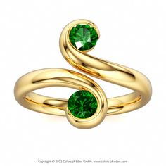Two Stone Ring (With your choice of gemstones.)