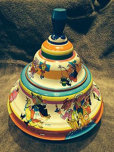 Ohio Art Tin Toy Spinning Top - #321-A173 - hums while spinning