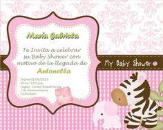 Invitaciones para baby shower de flores y mariquitas - Imagui