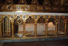 Tomb of St Catherine of Siena.  Patron Saint of Italy.  Santa Maire Sopra Minerva.