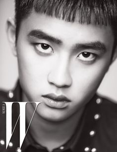 EXO D.O. for W Korea magazine - EXOclusive - web editorial July 2016 Wearing: 검정 스터드 셔츠는 Givenchy by Riccardo Tisci 제품.