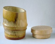 small bamboo container+