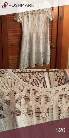 Beautiful lace dress Beautiful lace blue dress zipper back Dresses