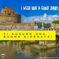 Ti auguro una buona giornata! Italian Memes, Learning Italian, Good Day, Culture, Make It Simple, Taj Mahal, Italy, Travel, Twitter