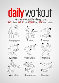 simple no-equipment workout for every day: nine exercises, ten reps per set. Visual guide: print & use.A simple no-equipment workout for every day: nine exercises, ten reps per set. Visual guide: print & use. Fitness Workouts, Easy Daily Workouts, At Home Workouts, Fitness Tips, Home Workout For Men, Stretches For Workouts, Belly Fat Workout For Men, Easy Workouts For Beginners, Hiit Workouts For Men