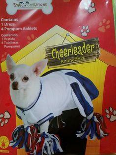 Cheerleader Blue White Uniform Cute Fancy Dress Up Halloween Pet Dog Cat Costume | eBay