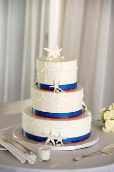 wedding cake, nautical, seaside wedding, sea shell cake, star fish wedding cake, buttercream wedding, Newport wedding cake