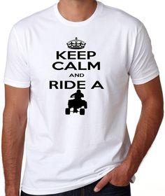 KEEP CALM and ride a ATV Quad 4x4 Adult Shirt offroading dirt track mud making t-shirt on Etsy, $17.00