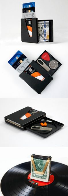 The Vessel wallet literally allows you to 'scroll' through your cards to select the correct one! Buy It Here!