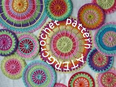 Crochet pattern multicolored circles by ATERGcrochet.